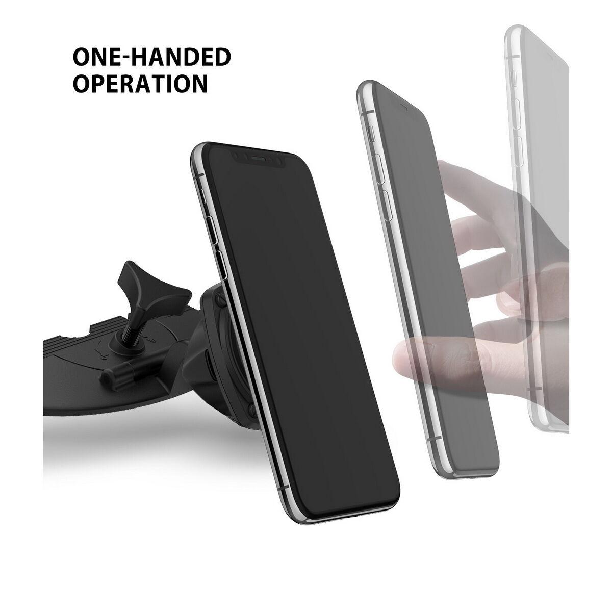 Ringke autós telefon tartó, Square CD Slot, CD lejátszóba helyezhető, Fekete