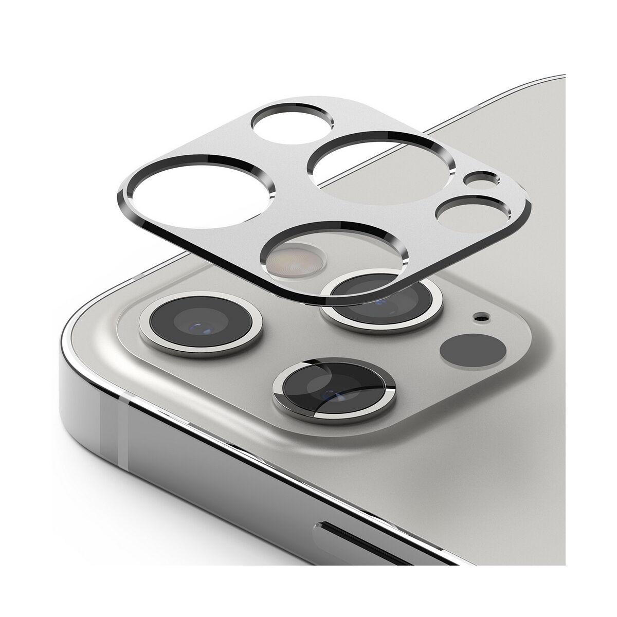 Ringke iPhone 12 Pro Max, Camera Stlying, kamera sziget védő keret, Ezüst