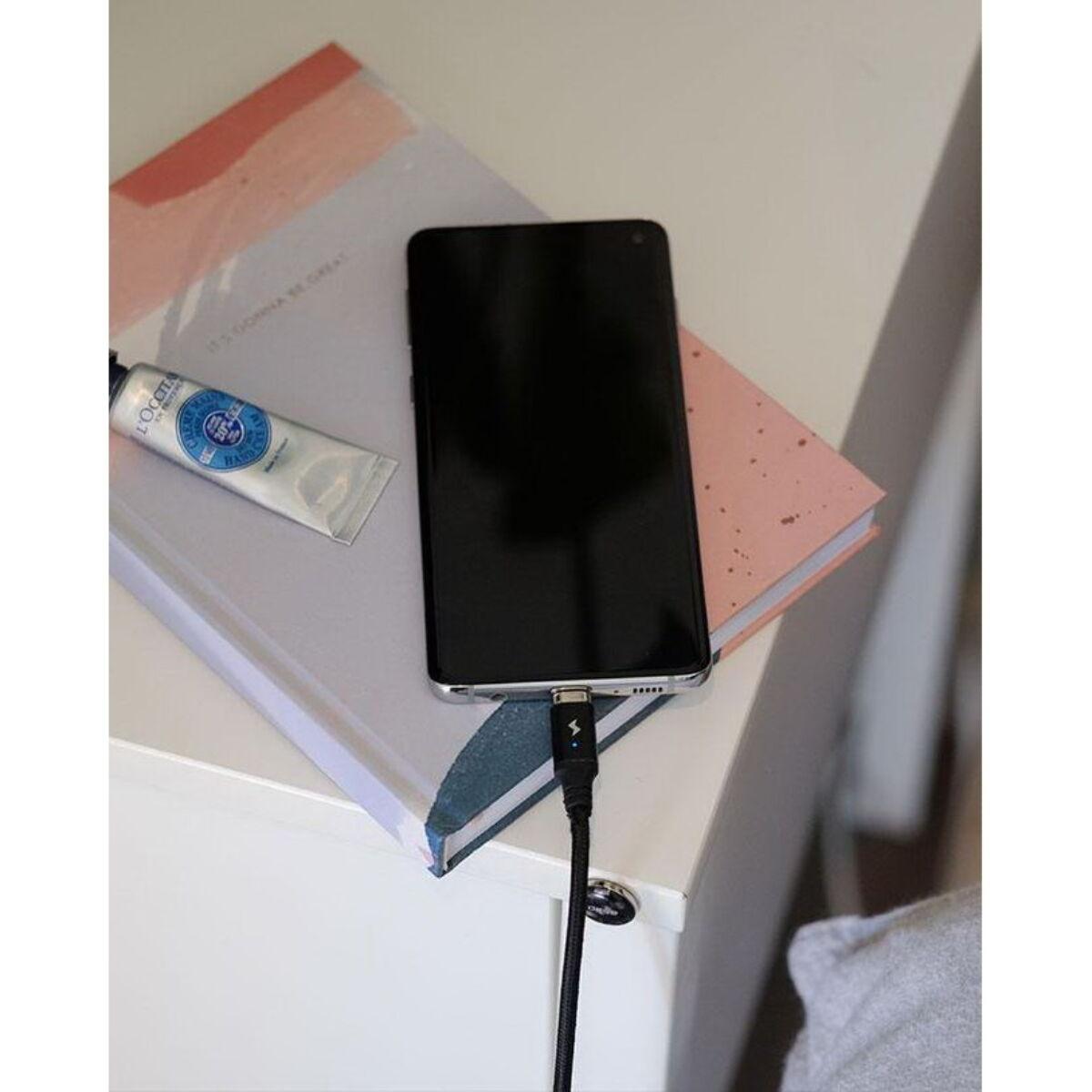 Chargeasap Mágneses kábelrendező, 4 db/csomag, fekete