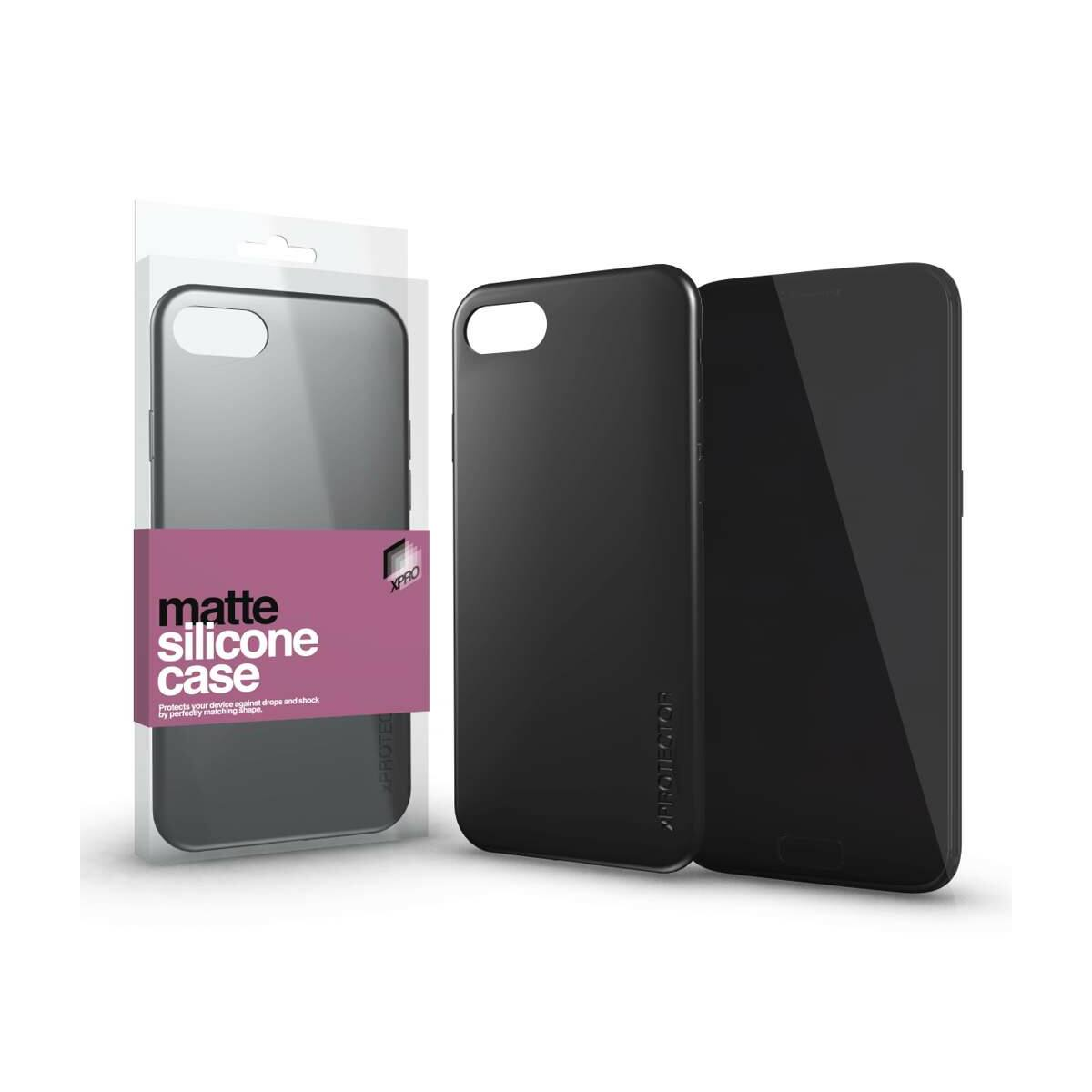 XPRO Samsung Galaxy A12 A125F Szilikon, tok, matt fekete
