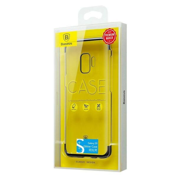 Baseus Samsung S9 Glitter tok, fekete (WISAS9-DW01)
